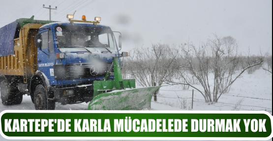 KARTEPE'DE KARLA MÜCADELEDE DURMAK YOK