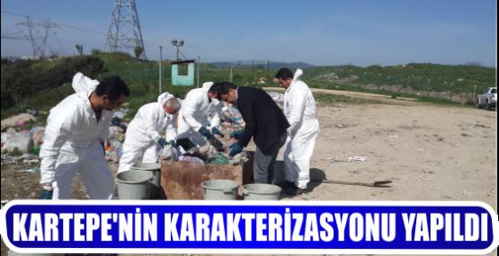KARTEPE'NİN KARAKTERİZASYONU YAPILDI
