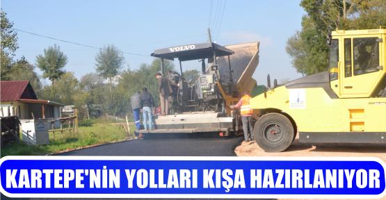 KARTEPE'NİN YOLLARI KIŞA HAZIRLANIYOR