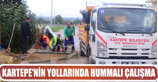 KARTEPE'NİN YOLLARINDA HUMMALI ÇALIŞMA