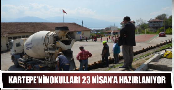 KARTEPE'NİNOKULLARI 23 NİSAN'A HAZIRLANIYOR