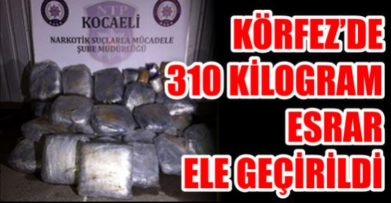 KOCAELİ'DE 310 KİLOGRAM ESRAR ELE GEÇİRİLDİ