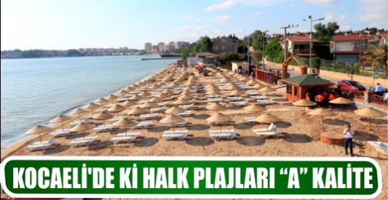 "KOCAELİ'DE Kİ HALK PLAJLARI ""A"" KALİTE"