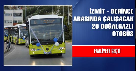 Kocaeli'ye doğalgazlı 20 otobüs daha