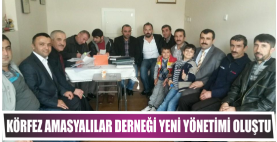 Körfez Amasyalılar Derneği Yeni Yönetimi oluştu