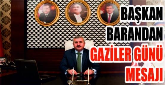 KÖRFEZ BELEDİYE BAŞKANI İSMAİL BARAN'IN GAZİLER GÜNÜ MESAJI