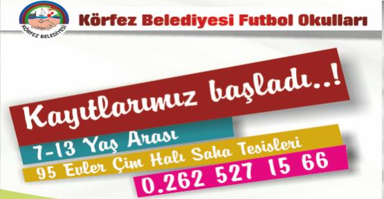 Körfez Belediyesi Futbol Okulu Açılıyor