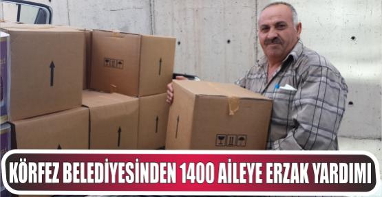Körfez Belediyesinden 1400 Aileye Erzak Yardımı