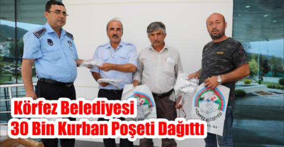 Körfez Belediyesi'nden 30 bin kurban poşeti