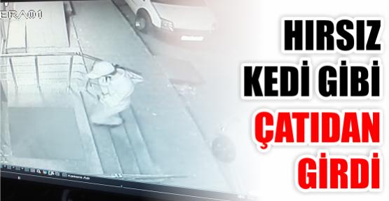 Körfez'de bir iş merkezine asansör boşluğundan Çıkan hırsız
