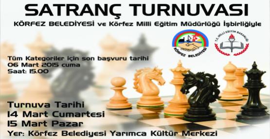 Körfez'de satranç turnuvası