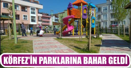 KÖRFEZ'İN PARKLARINA BAHAR GELDİ