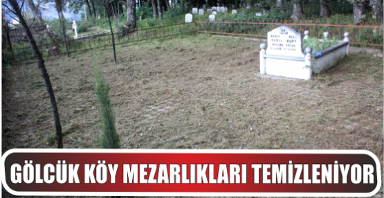 Köy mezarlıkları temizleniyor