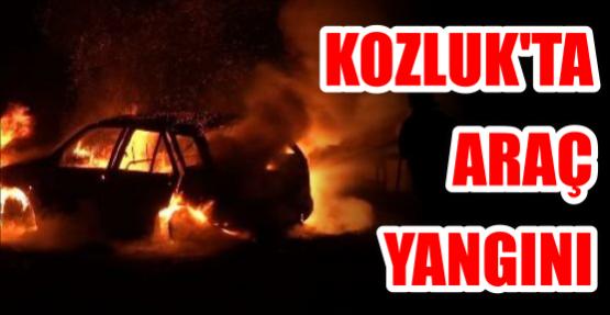 Kozluk'ta araç yangını