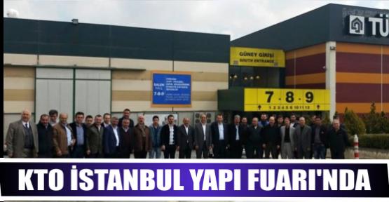KTO 1. ve 15.Meslek Komiteleri Üyeleriyle, İstanbul Yapı Fuarı'nda