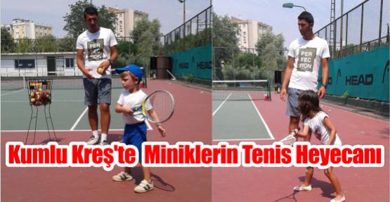 Kumlu Kreş'te Miniklerin Tenis Heyecanı