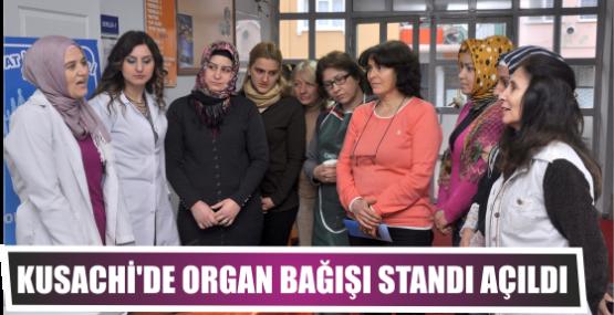 Kusachi'de organ bağışı standı açıldı