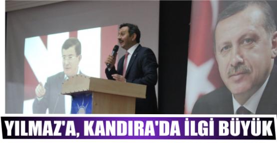 M. AKİF YILMAZ'A, KANDIRA'DA İLGİ BÜYÜK