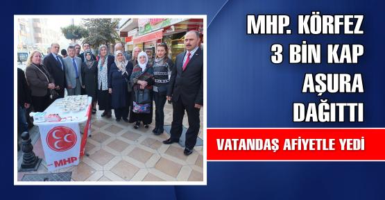 MHP KÖRFEZ'DE 3 BİN AŞURE DAĞITTI
