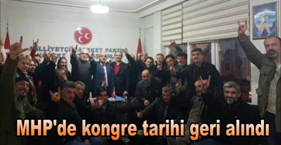 MHP'de kongre tarihi geri alındı