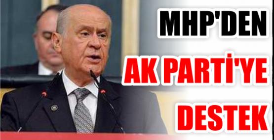 MHP'DEN AK PARTİ'YE DESTEK