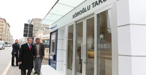 Modern Gebze'ye  modern taksi durakları
