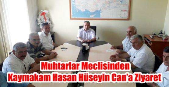 Muhtarlar meclisinden Kaymakam Hasan Hüseyin Can'a ziyaret