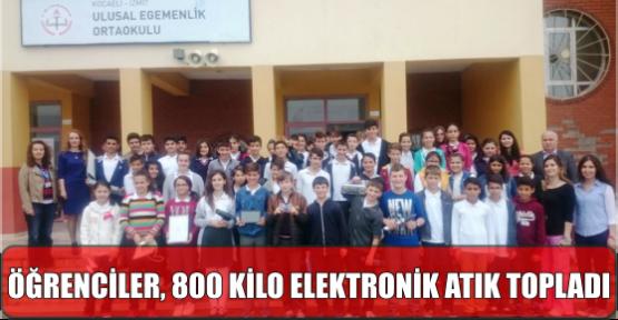 ÖĞRENCİLER, 800 KİLO ELEKTRONİK ATIK TOPLADI
