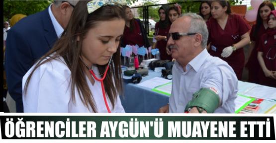 ÖĞRENCİLER AYGÜN'Ü MUAYENE ETTİ