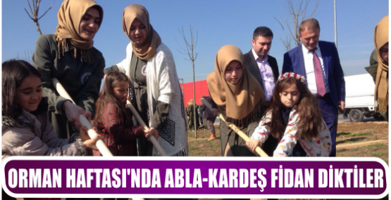 ORMAN HAFTASI'NDA ABLA-KARDEŞ FİDAN DİKTİLER