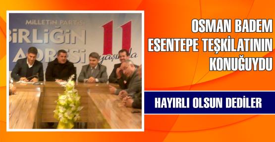 Osman Badem ilk toplantıya katıldı
