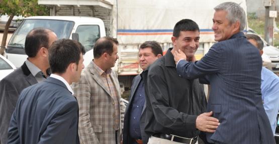 Pehlivan, Hacı Osman'da esnafların gönlünü aldı