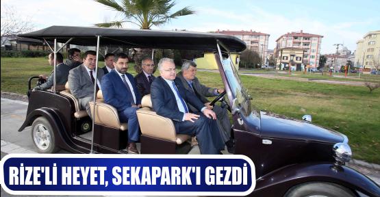 RİZE'Lİ HEYET, SEKAPARK'I GEZDİ