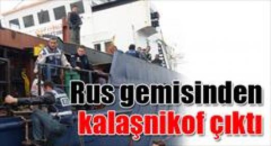 Rus gemisinden kalaşnikof çıktı!