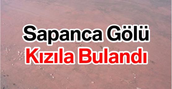 Sapanca Gölü Kızıla Bulandı