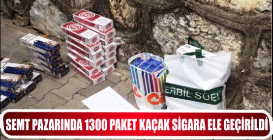 SEMT PAZARINDA 1300 PAKET KAÇAK SİGARA ELE GEÇİRİLDİ