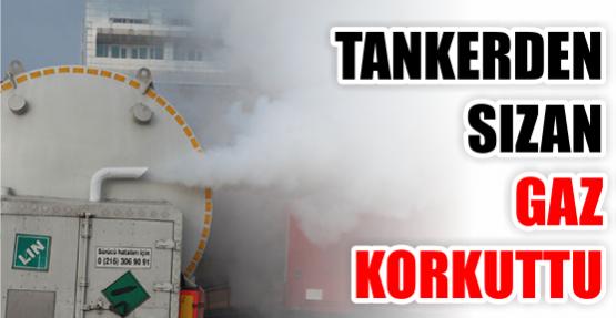 Tankerden sızan gaz korkuttu