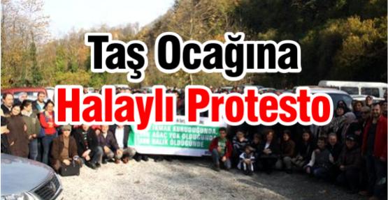 Taş Ocağına Halaylı Protesto