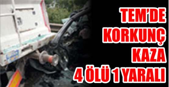 TEM'de korkunç kaza: 4 ölü 1 yaralı
