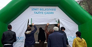 İZMİT BELEDİYESİ'NDEN TAZİYE ÇADIRI...