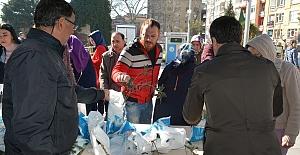Vatandaşlara Binlerce Fidan Dağıtıldı