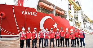 """""""Yavuz Sondaj Gemisi"""" Törenle Uğurlandı"""
