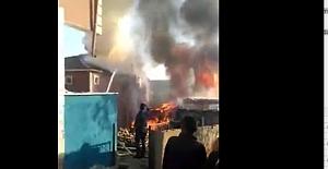 İşte O Yangının  Kamera Görüntüleri