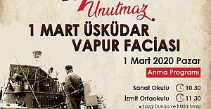 İzmit Belediyesi 1 Mart Vapur Faciasını Anacak