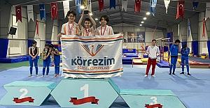 Körfezim Okulları Jimnastikte Kupaları Topladı
