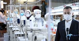 Başkan Büyükakın,''Maske Üretiminde Kapasiteyi Artırıyoruz''