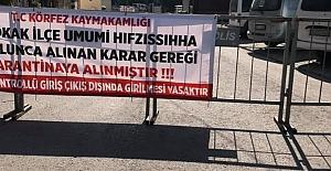 KÖRFEZ'DE 6 BİNADA  VE PARKTA KARANTİNA