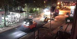 Büyükşehir Ekipleri Gece-Gündüz Çalıştı; Yahya Kaptan Seymen Caddesi Yenilendi