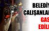 Belediye çalışanları gasp edildi