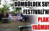DÜMBÜLDEK SUYU FESTİVALİ'NDE PLAKET YAĞMURU